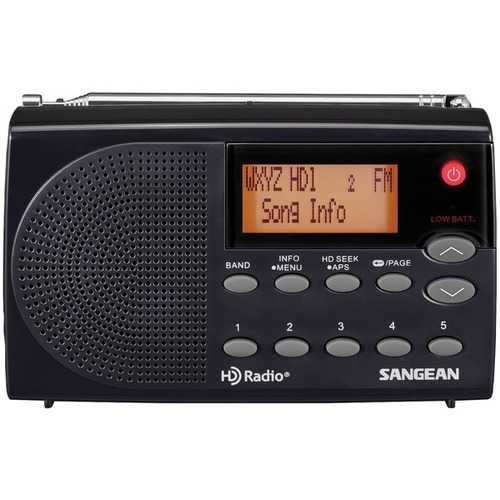 Sangean Hd Radio And Fm Stereo And Am Portable Radio (pack of 1 Ea)