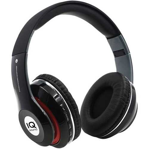 Iq Sound Bluetooth Over-ear Headphones With Microphone (black) (pack of 1 Ea)
