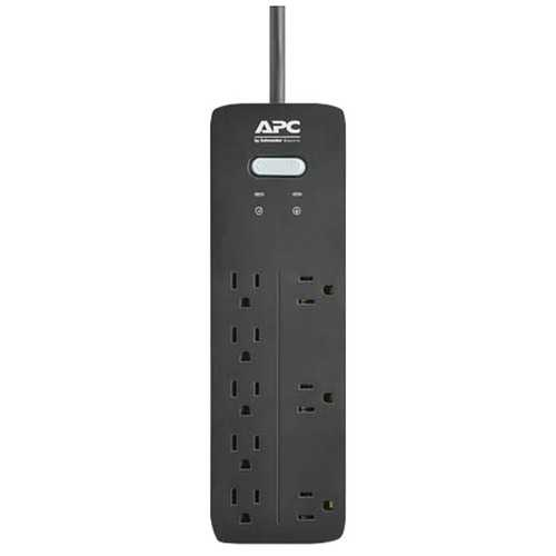 Apc 8-outlet Surgearrest Home And Office Series Surge Protector, 6ft Cord (pack of 1 Ea)