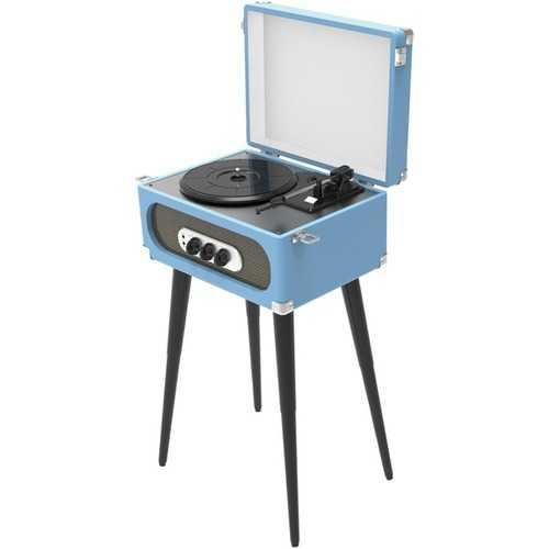 Sylvania Bluetooth Retro Turntable With Stand & Fm Radio (blue) (pack of 1 Ea)