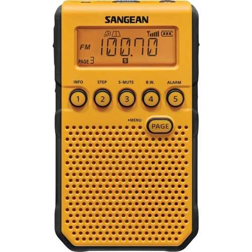 Sangean Am And Fm Weather Alert Pocket Radio (yellow) (pack of 1 Ea)