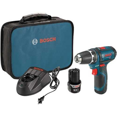 """Bosch 12-volt Max 3 And 8"""" Cordless Drill And Driver Kit (pack of 1 Ea)"""