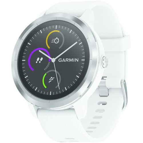 Garmin Vivoactive 3 (white With Stainless Hardware) (pack of 1 Ea)