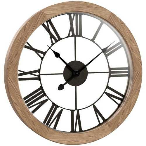"Westclox 15"" Round Wood Wall Clock (pack of 1 Ea)"