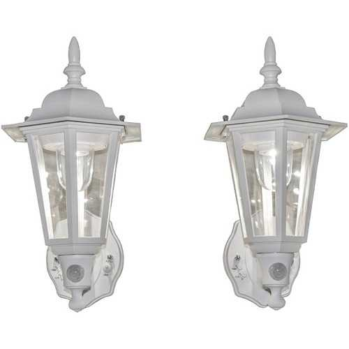 Maxsa Innovations Battery-powered Motion-activated Plastic Led Wall Sconce, 2-pack (white) (pack of 1 Ea)