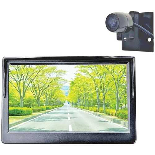 Boyo Vision Diy 5-inch Rearview Monitor And Compact Bracket-mount Behind-license-plate Camera (pack of 1 Ea)