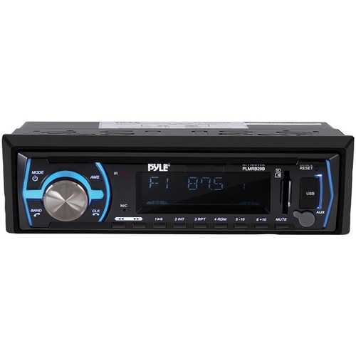 Pyle Single-din In-dash Digital Marine Stereo Receiver With Bluetooth (black) (pack of 1 Ea)