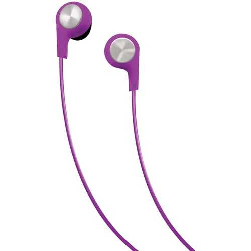 Maxell Bass 13 Heavy-bass In-ear Earbuds With Microphone (purple) (pack of 1 Ea)