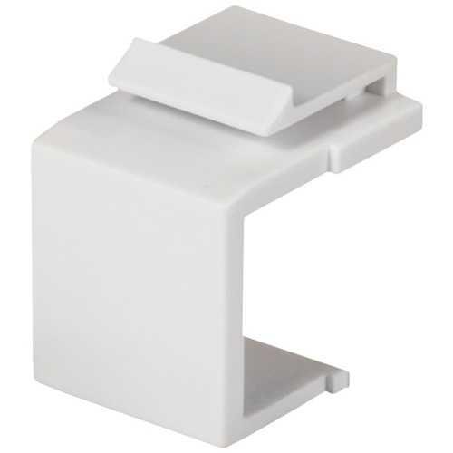 Datacomm Electronics Blank Keystone Insert (white) (pack of 1 Ea)