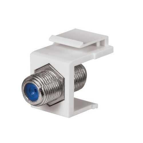 Datacomm Electronics 3 Ghz F-connector Keystone Insert (white) (pack of 1 Ea)