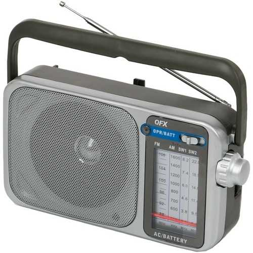 Qfx Retro Am And Fm And Sw1 And Sw2 Portable Radio (pack of 1 Ea)
