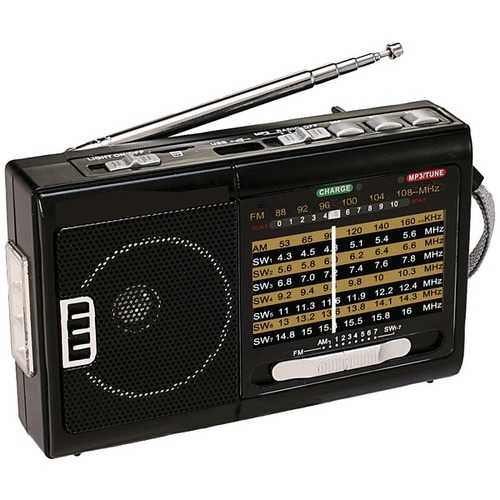 Qfx Am And Fm And Sw1 To Sw7 10-band Radio With Flashlight (pack of 1 Ea)