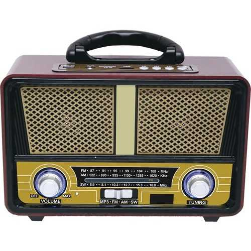 Qfx Retro Am And Fm And Sw 3-band Radio With Bluetooth (pack of 1 Ea)