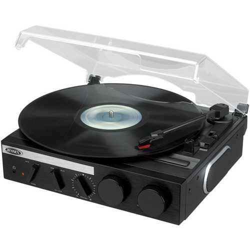 Jensen 3-speed Stereo Turntable With Built-in Speakers And Encoding To Computer (pack of 1 Ea)