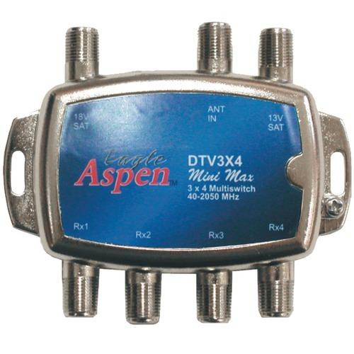 Eagle Aspen Directv-approved 3-in X 4-out Multiswitch (pack of 1 Ea)