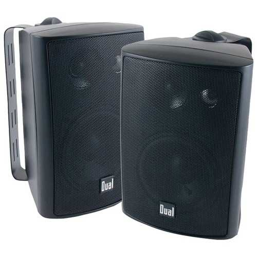 "Dual 4"" 3-way Indoor And Outdoor Speakers (black) (pack of 1 Ea)"