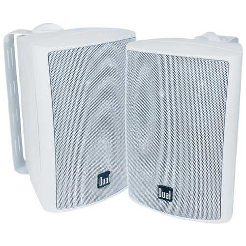 "Dual 4"" 3-way Indoor And Outdoor Speakers (white) (pack of 1 Ea)"