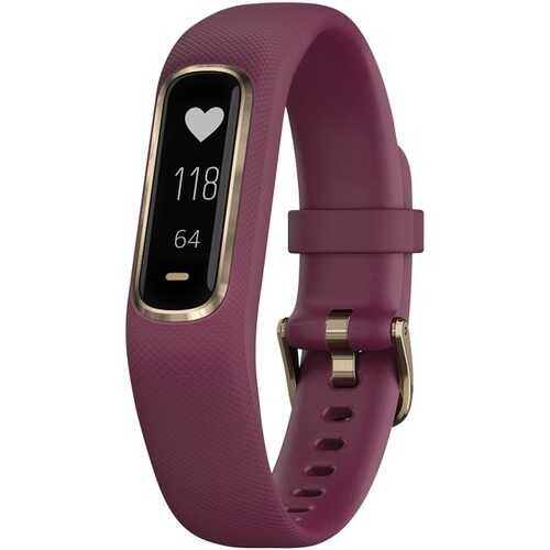 Garmin Vivosmart 4 Activity Tracker (berry With Light Gold Hardware, Small And Medium Wrists) (pack of 1 Ea)