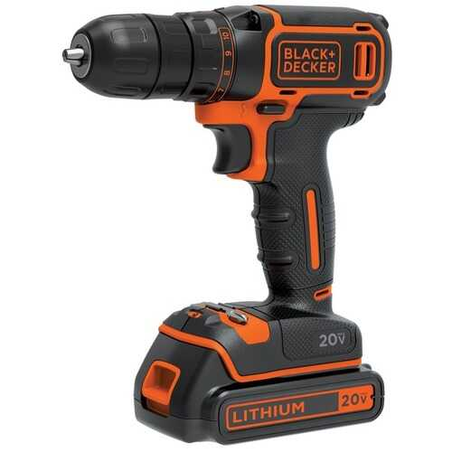 Black+decker 20-volt Max* Lithium Single-speed Drill And Driver (pack of 1 Ea)