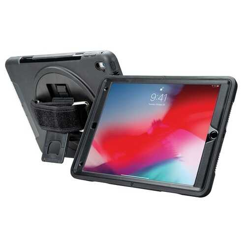 Cta Digital Protective Case With Built-in 360deg Rotatable Grip Kickstand For Ipad 10.2 In. 7th Generation (pack of 1 Ea)