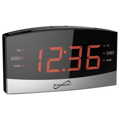 Supersonic Bluetooth Clock Radio (pack of 1 Ea)