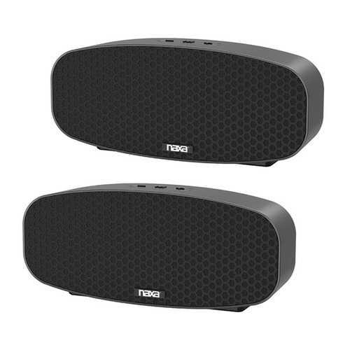 Naxa Dual Bluetooth True Wireless Sync Speakers Combo (rectangle) (pack of 1 Ea)