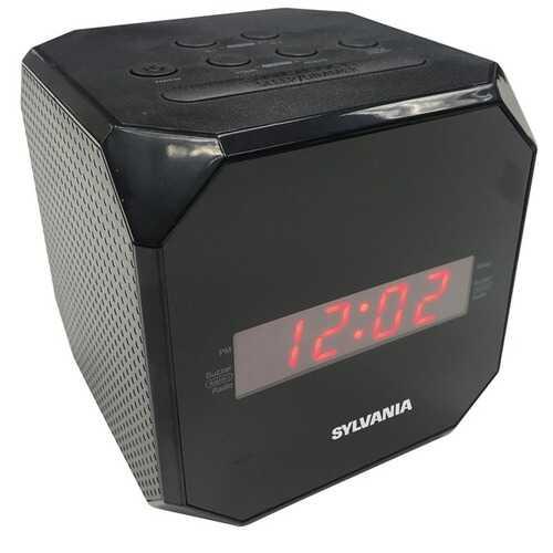 Sylvania Cube Clock Radio (pack of 1 Ea)