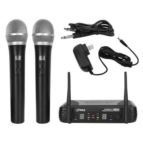 Pyle Premier Series Professional 2-channel Uhf Wireless Handheld Microphone System With Selectable Frequency (pack of 1 Ea)