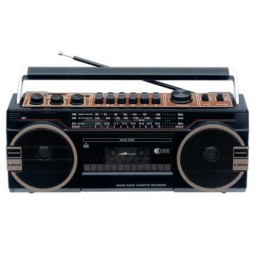 Supersonic 3 Band Radio With Bluetooth And Cassette Recorder (pack of 1 Ea)