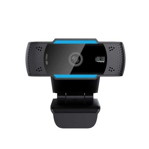 Adesso 1080p Hd Usb Auto Focus Webcam With Built-in Dual Microphone (pack of 1 Ea)