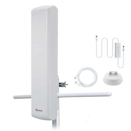 Antop Antenna Inc. Big Boy At-402bv Flat-panel Smartpass-amplified Outdoor Hdtv Antenna (pack of 1 Ea)