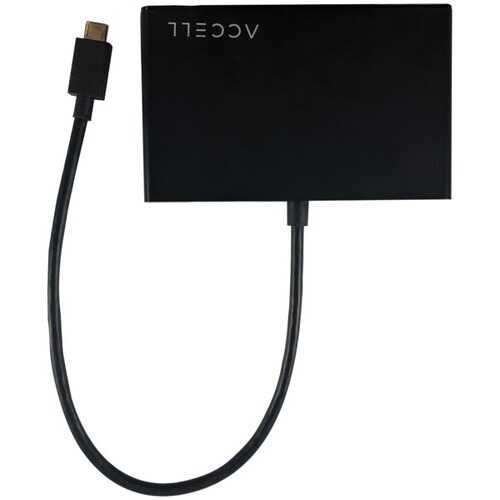 Accell Usb-c To 3 Hdmi 1.4 Multidisplay (mst) Hub (pack of 1 Ea)