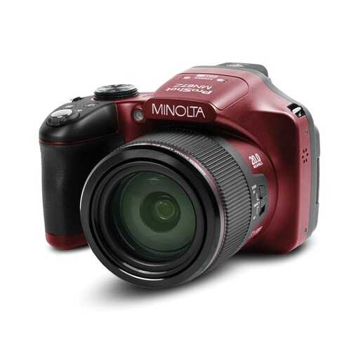 Minolta Mn67z 20.0-megapixel 1080p Full Hd 67x Optical Zoom Wi-fi Bridge Camera (red) (pack of 1 Ea)