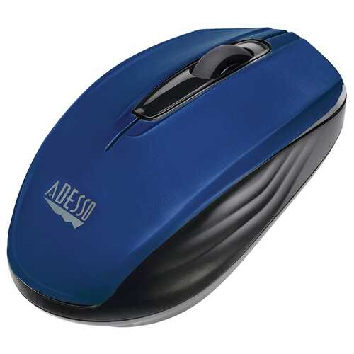 Adesso Imouse S50 2.4 Ghz Wireless Mini Mouse (blue) (pack of 1 Ea)