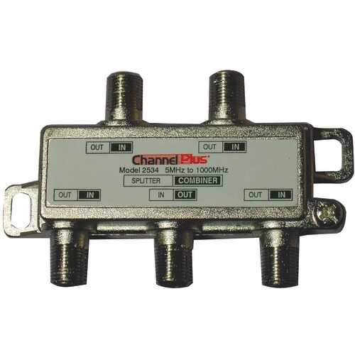 Channel Plus Splitter And Combiner (4 Way) (pack of 1 Ea)