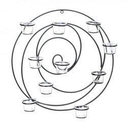 Circular Metal Wall Tealight Candleholder