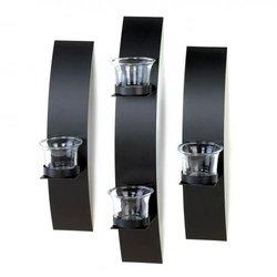 Black Wall Candleholder Set (pack of 1 SET)
