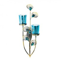 Peacock Plume Candle Wall Sconce (pack of 1 EA)