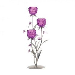 Fuchsia Blooms Candleholder