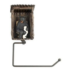 Bear Outhouse Toilet Paper Holder (pack of 1 EA)
