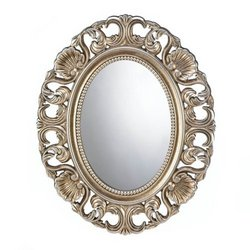 Gilded Oval Wall Mirror (pack of 1 EA)