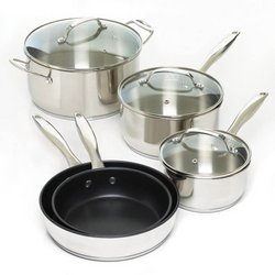8 Pc. Stainless Steel Cookware Set (pack of 1 SET)