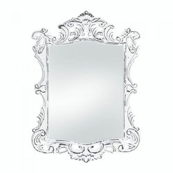 Regal White Distressed Wall Mirror (pack of 1 EA)