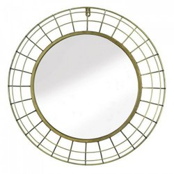Golden Wire Dome Framed Wall Mirror (pack of 1 EA)
