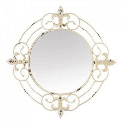 Antique White Fleur-de-lis Wall Mirror (pack of 1 EA)