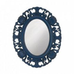 Blue Scallop Wall Mirror (pack of 1 EA)