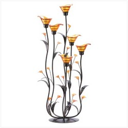 Amber Calla Lilly Candleholder (pack of 1 EA)