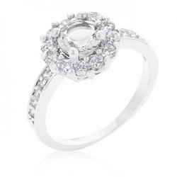 Bella Birthstone Engagement Ring In Clear (size: 06) (pack of 1 ea)