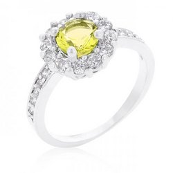 Bella Birthstone Engagement Ring In Yellow (size: 06) (pack of 1 ea)