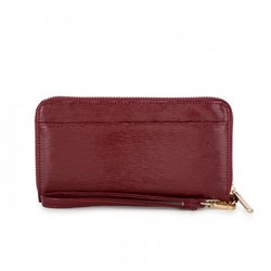 Kate Burgundy Faux Textured Leather Clutch (pack of 1 ea)